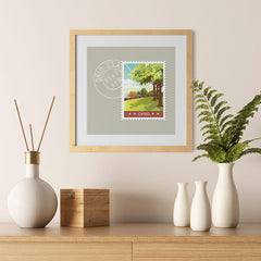 Ezposterprints - OHIO - Retro USA State Stamp Posters Collection - 12x12 ambiance display photo sample