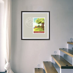 Ezposterprints - OHIO - Retro USA State Stamp Posters Collection - 16x16 ambiance display photo sample
