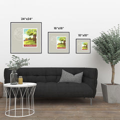 Ezposterprints - OHIO - Retro USA State Stamp Posters Collection ambiance display photo sample