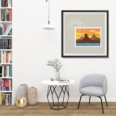 Ezposterprints - UTAH - Retro USA State Stamp Posters Collection - 32x32 ambiance display photo sample