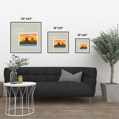 Ezposterprints - UTAH - Retro USA State Stamp Posters Collection ambiance display photo sample