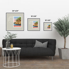 Ezposterprints - WISCONSIN - Retro USA State Stamp Posters Collection ambiance display photo sample