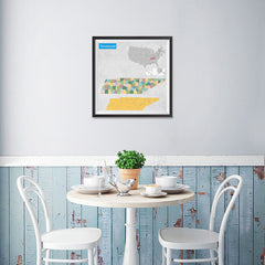 Ezposterprints - Tennessee (TN) State - General Reference Map - 16x16 ambiance display photo sample