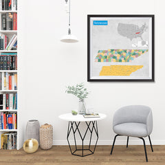 Ezposterprints - Tennessee (TN) State - General Reference Map - 32x32 ambiance display photo sample