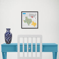 Ezposterprints - Texas (TX) State - General Reference Map - 10x10 ambiance display photo sample