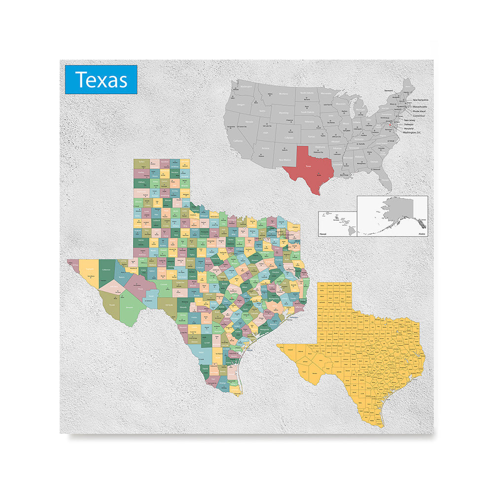 Ezposterprints - Texas (TX) State - General Reference Map