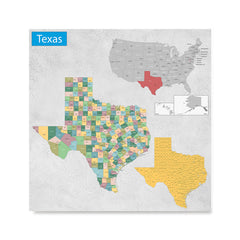Texas Tx State General Reference Map Usa States Maps Posters