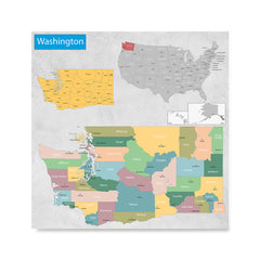 Ezposterprints - Washington (WA) State - General Reference Map