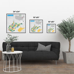Ezposterprints - West Virginia (WV) State - General Reference Map ambiance display photo sample
