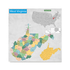 Ezposterprints - West Virginia (WV) State - General Reference Map