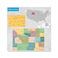 Ezposterprints - Wyoming (WY) State - General Reference Map