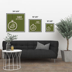 Ezposterprints - Use Green Energy ambiance display photo sample