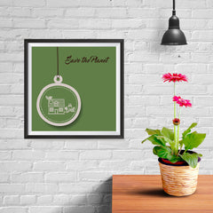 Ezposterprints - Green Home - 10x10 ambiance display photo sample