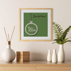 Ezposterprints - Green Home - 12x12 ambiance display photo sample