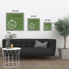 Ezposterprints - Green Home ambiance display photo sample
