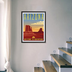 Ezposterprints - ARIZONA Retro Travel Poster - 18x24 ambiance display photo sample