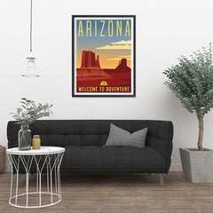 Ezposterprints - ARIZONA Retro Travel Poster - 24x32 ambiance display photo sample