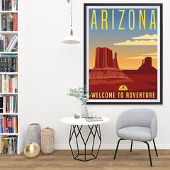 Ezposterprints - ARIZONA Retro Travel Poster - 36x48 ambiance display photo sample