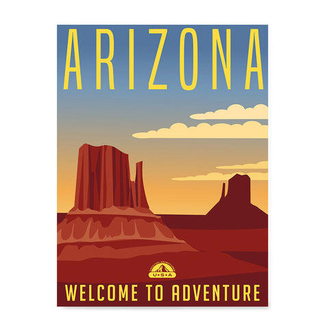 Ezposterprints - ARIZONA Retro Travel Poster