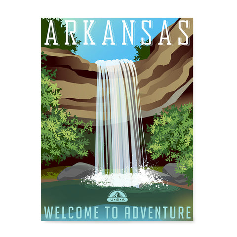 Ezposterprints - ARKANSAS Retro Travel Poster
