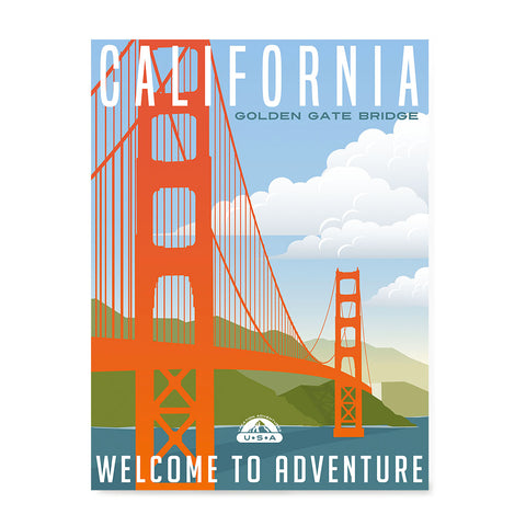 Ezposterprints - CALIFORNIA Retro Travel Poster