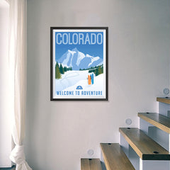 Ezposterprints - COLORADO Retro Travel Poster - 18x24 ambiance display photo sample