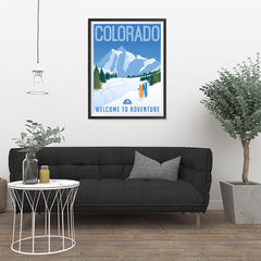 Ezposterprints - COLORADO Retro Travel Poster - 24x32 ambiance display photo sample