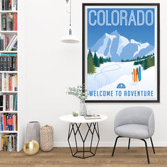 Ezposterprints - COLORADO Retro Travel Poster - 36x48 ambiance display photo sample