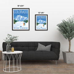 Ezposterprints - COLORADO Retro Travel Poster ambiance display photo sample
