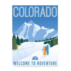 Ezposterprints - COLORADO Retro Travel Poster