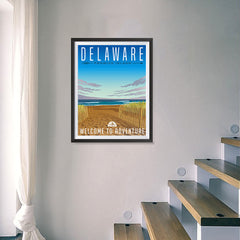 Ezposterprints - DELAWARE Retro Travel Poster - 18x24 ambiance display photo sample