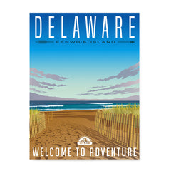 Ezposterprints - DELAWARE Retro Travel Poster