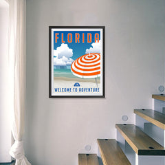 Ezposterprints - FLORIDA Retro Travel Poster - 18x24 ambiance display photo sample