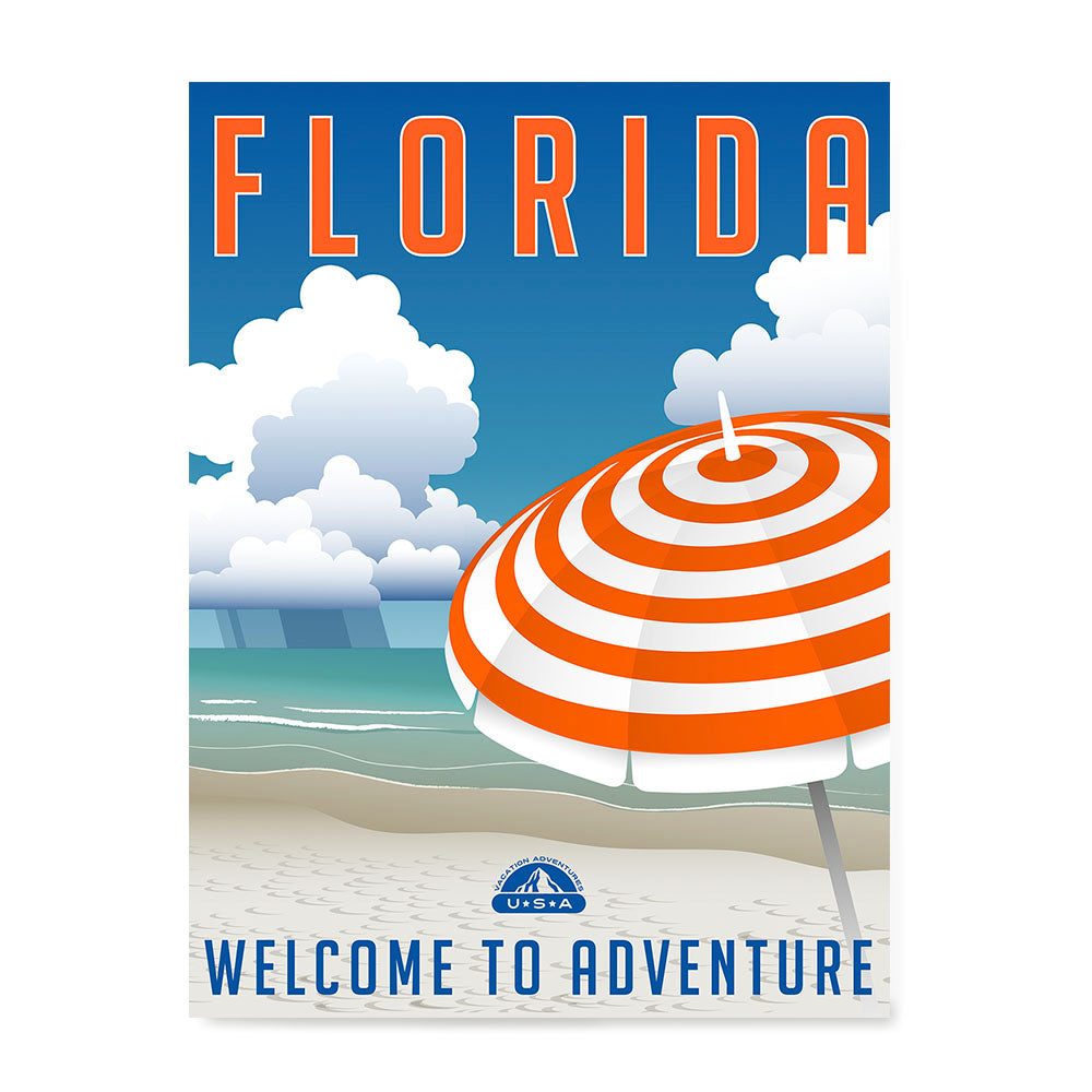 Ezposterprints - FLORIDA Retro Travel Poster
