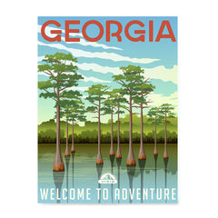 Ezposterprints - GEORGIA Retro Travel Poster
