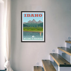 Ezposterprints - IDAHO Retro Travel Poster - 18x24 ambiance display photo sample