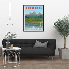 Ezposterprints - IDAHO Retro Travel Poster - 24x32 ambiance display photo sample