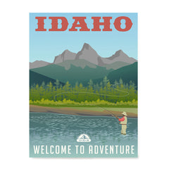 Ezposterprints - IDAHO Retro Travel Poster