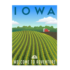 Ezposterprints - IOWA Retro Travel Poster