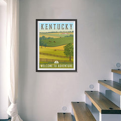 Ezposterprints - KENTUCKY Retro Travel Poster - 18x24 ambiance display photo sample