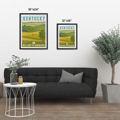 Ezposterprints - KENTUCKY Retro Travel Poster ambiance display photo sample