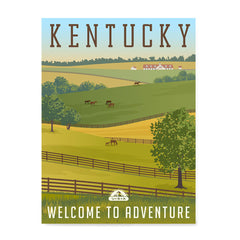 Ezposterprints - KENTUCKY Retro Travel Poster