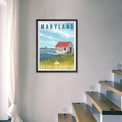 Ezposterprints - MARYLAND Retro Travel Poster - 18x24 ambiance display photo sample