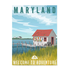 Ezposterprints - MARYLAND Retro Travel Poster