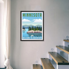 Ezposterprints - MINNESOTA Retro Travel Poster - 18x24 ambiance display photo sample