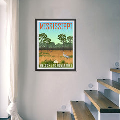 Ezposterprints - MISSISSIPPI Retro Travel Poster - 18x24 ambiance display photo sample