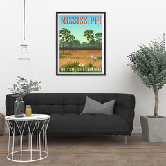 Ezposterprints - MISSISSIPPI Retro Travel Poster - 24x32 ambiance display photo sample