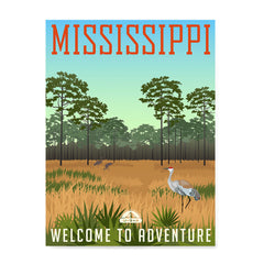 Ezposterprints - MISSISSIPPI Retro Travel Poster