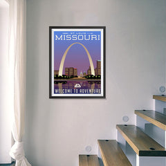 Ezposterprints - MISSOURI Retro Travel Poster - 18x24 ambiance display photo sample