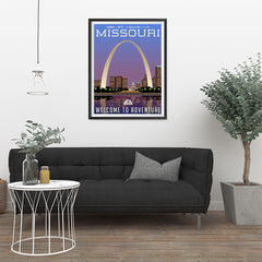 Ezposterprints - MISSOURI Retro Travel Poster - 24x32 ambiance display photo sample